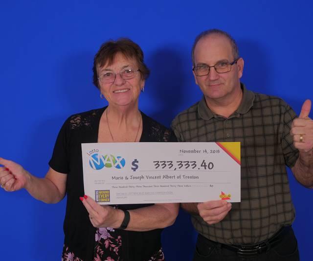 INQUINTE CA | Trenton couple wins big with Lotto Max