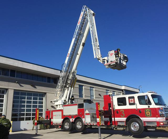 inquinte ca cfb firefighters welcome new fire truck