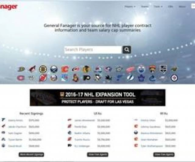 b57551e4124 Salary cap websites a popular tool for fans  NHL yet to create official  channel