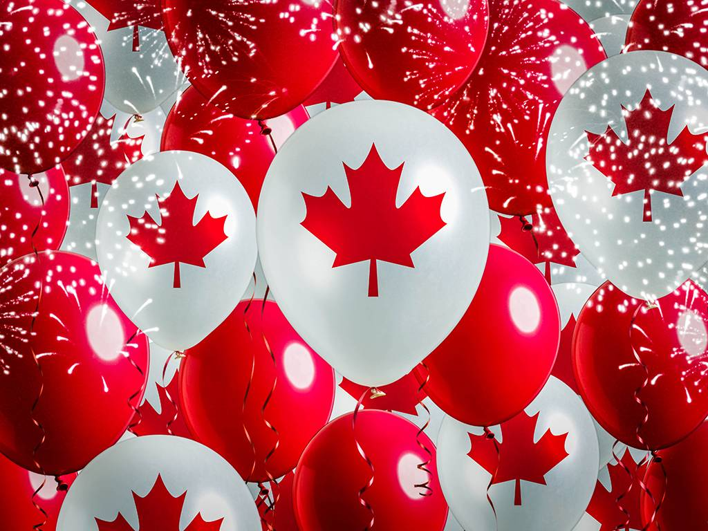 Canada Day balloons